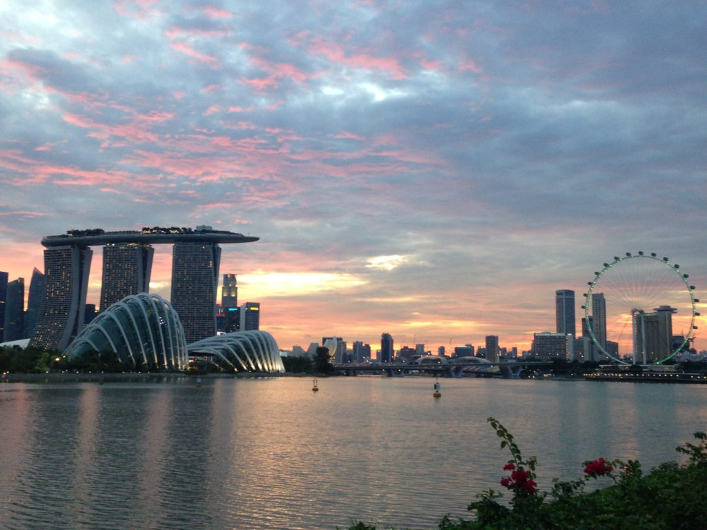 """sunset views marina bay sands singapore casino skypark"""