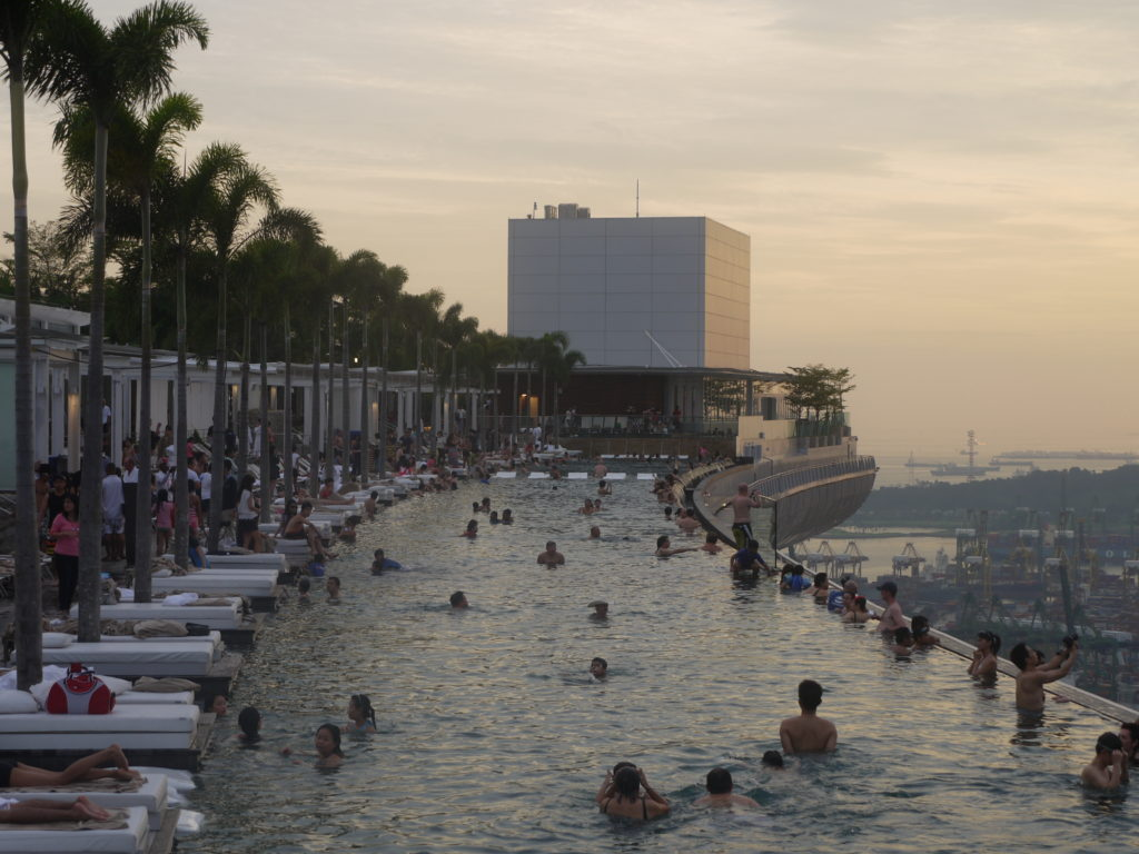 """infinity pool relax marina bay sands swim"""