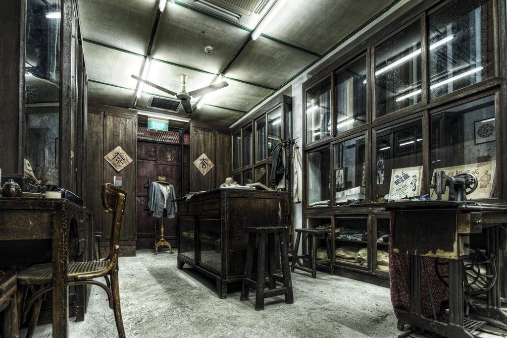 """chinatown neighbourhood guide chinatown heritage centre interior museum exhibition"""