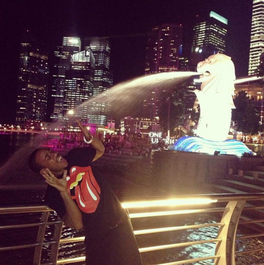 Instagram, Ludacris, Merlion, Famous, Celebrity, Visiting Singapore