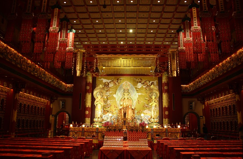 """Buddha Tooth Relic Temple Main Hall"""