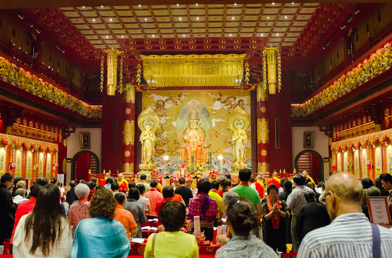 """Buddha Tooth Relic Temple prayers"""