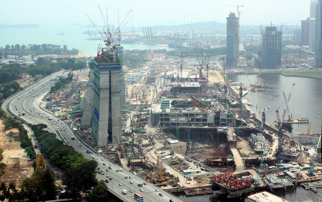 """construction site marina bay sands casino singapore"""