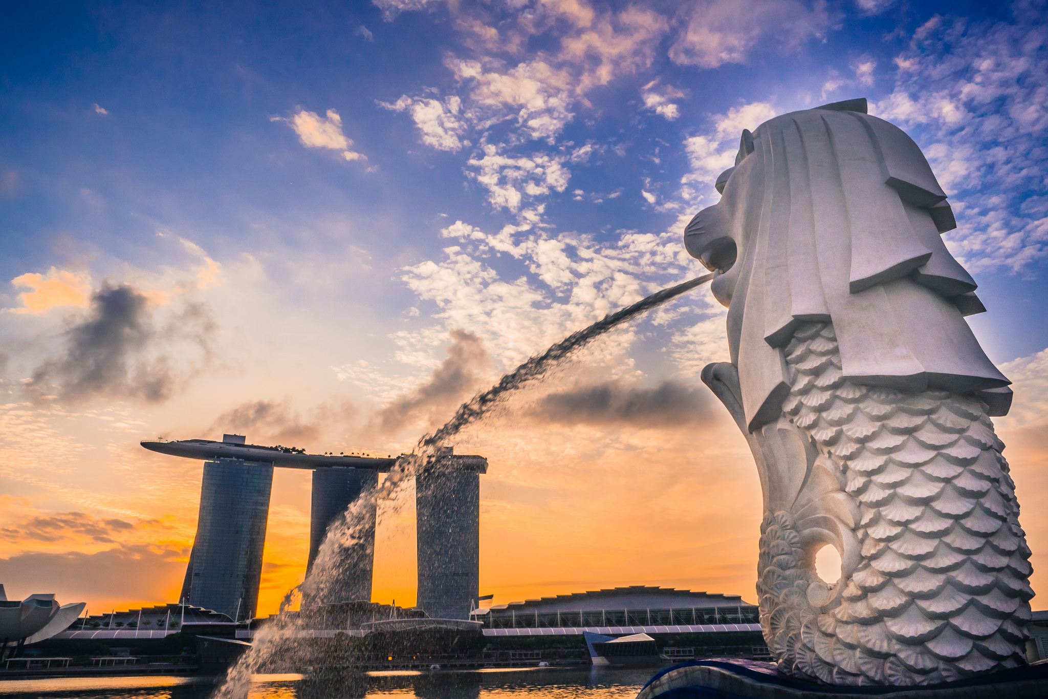 Merlion View of Marina Bay Sands