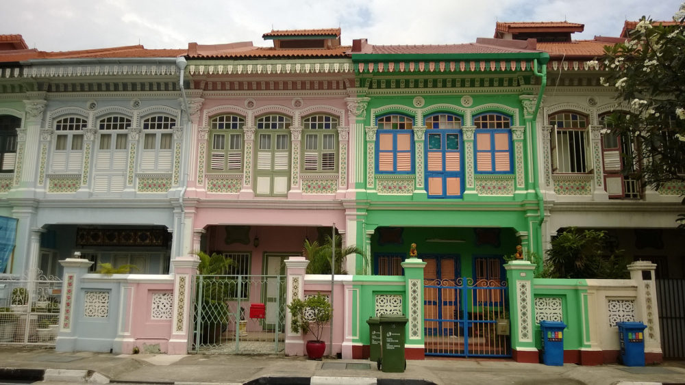 Colourful shophouses line Joo Chiat. Photo by Su-May, Flickr Commons first date ideas singapore