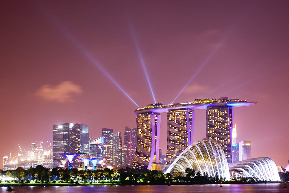 """Singapore, skyline, lights, city, Singapore great"""