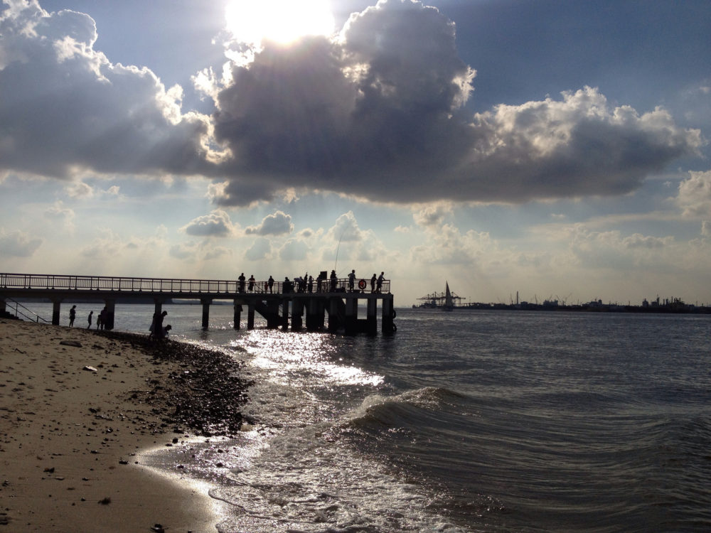 Clouds hang over the Punggol Jetty. Photo by Jimmy Tan