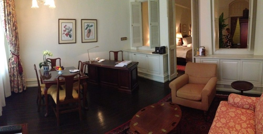 """raffles hotel, executive suite, review, singapore, luxury, history"""