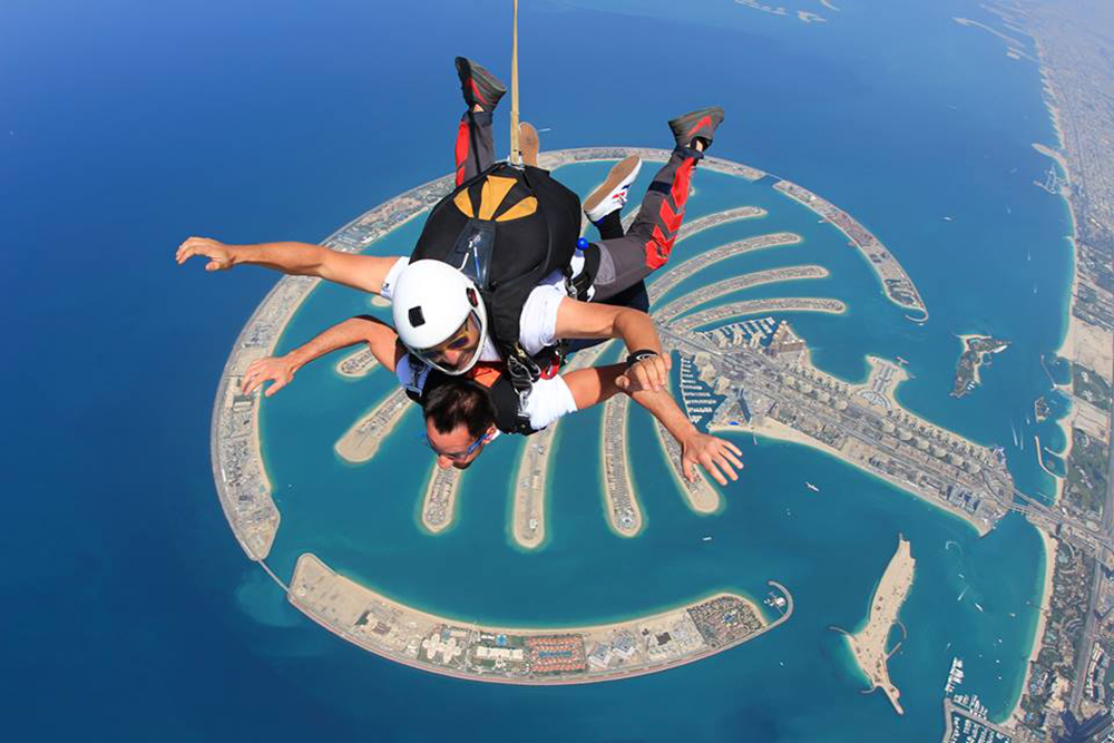 """sky dive in asia dubai adrenaline pumping exciting activities"""