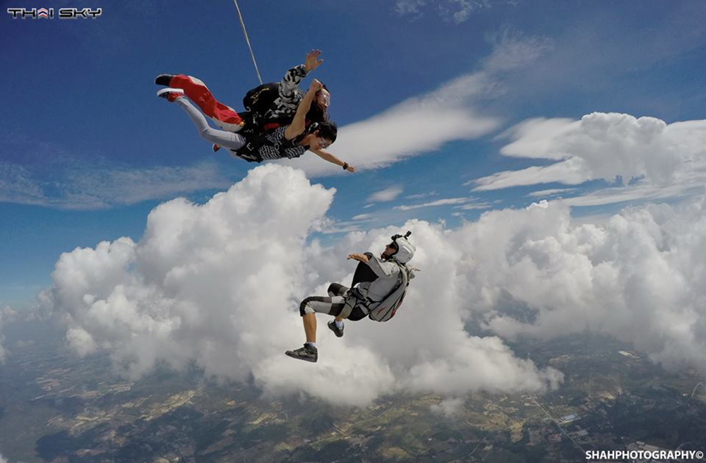 """sky dive in asia dubai adrenaline pumping exciting activities thailand"""