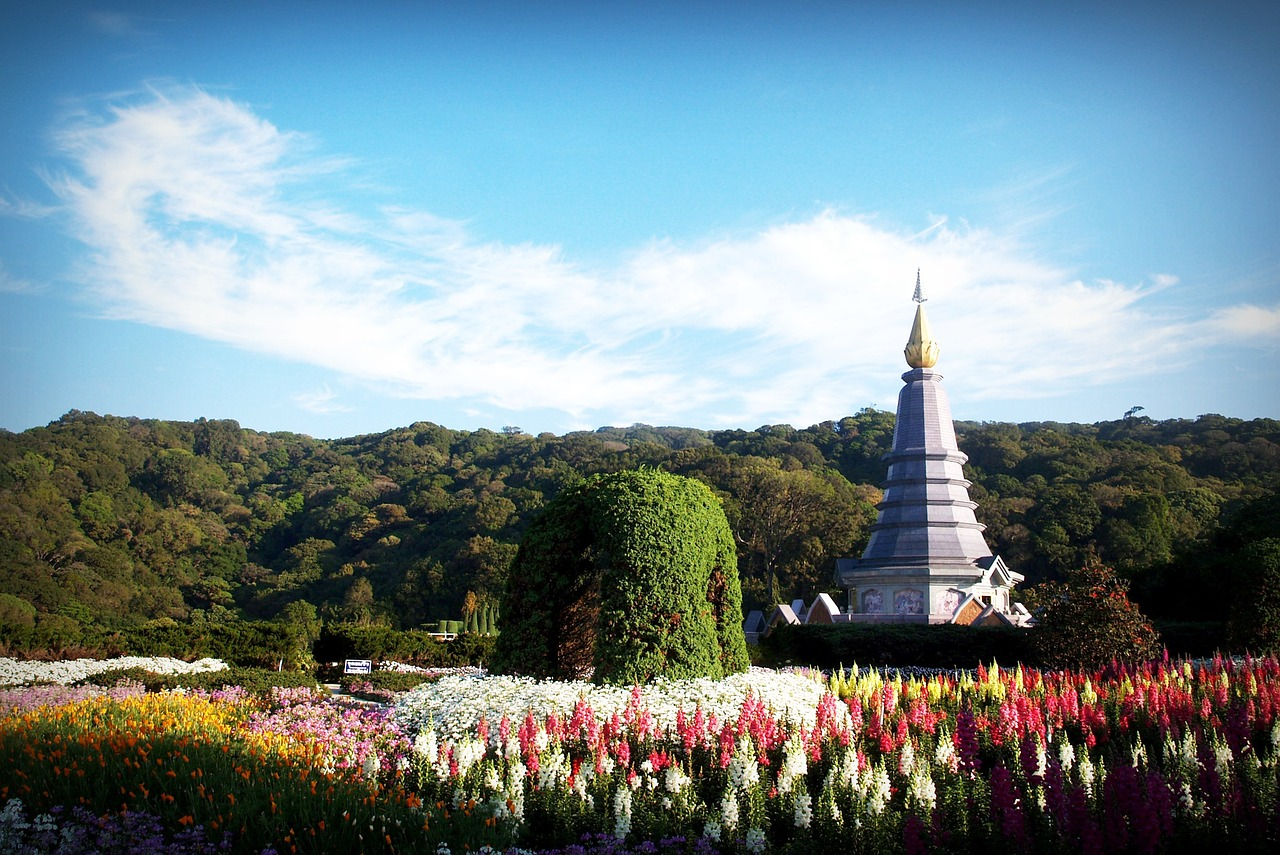Twin royal pagodas in Doi Inthanon