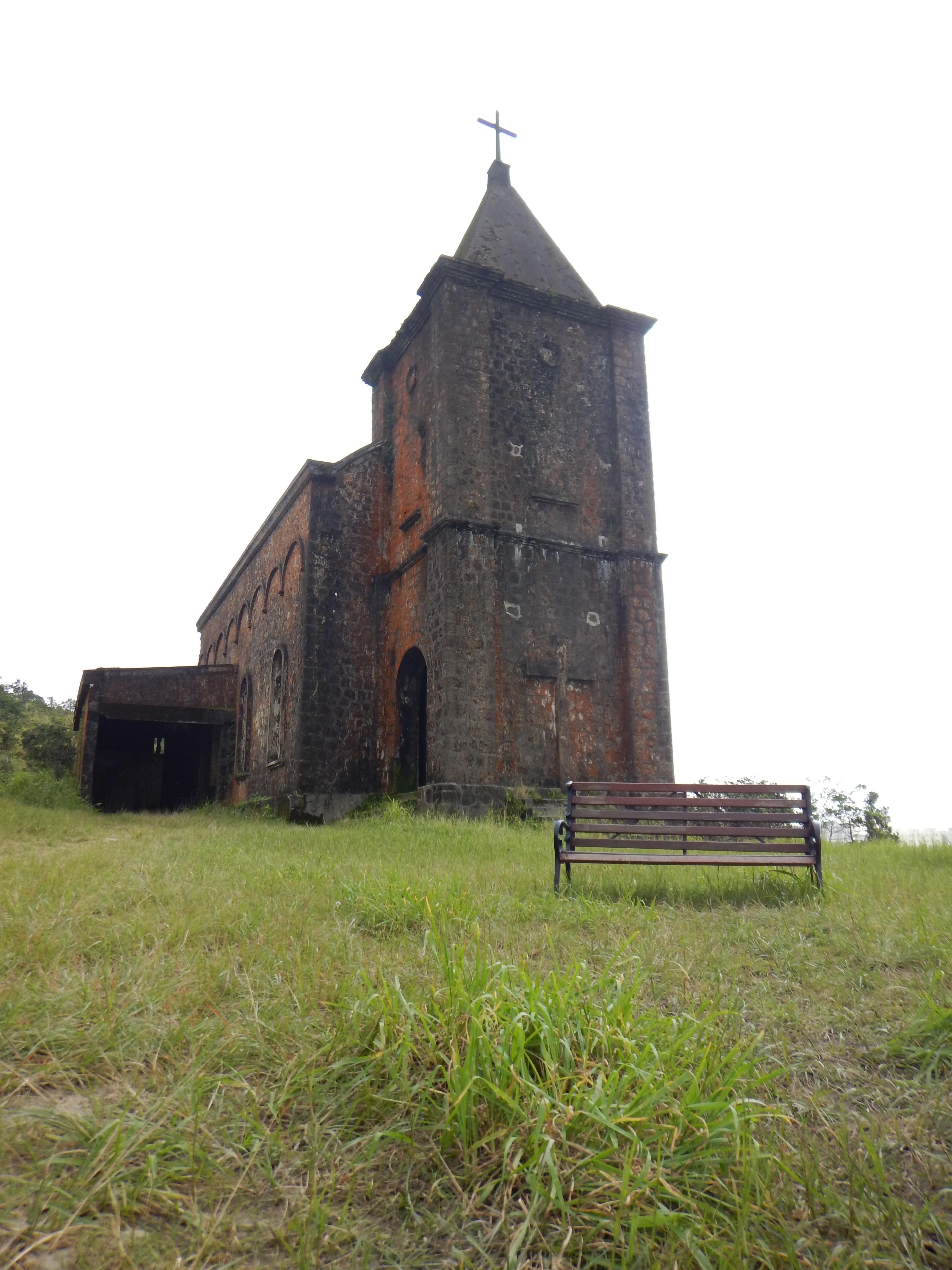 Abandoned Catholic Church on Bokor Mountain