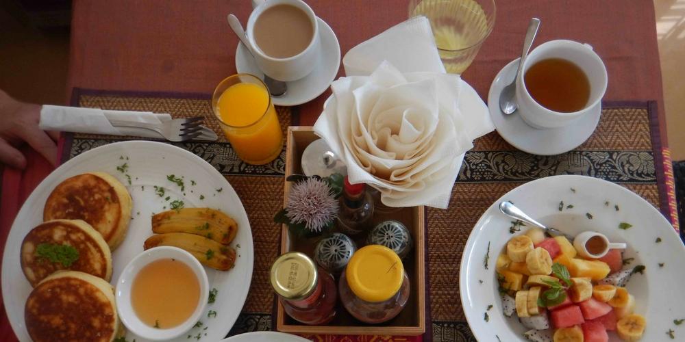 Breakfast at Baby Elephant Hotel Siem Reap
