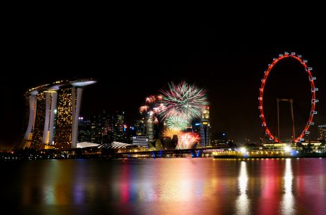 Best rooftop places to see Singapore National Day fireworks