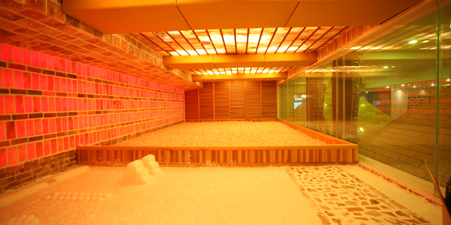 Crystal Illuminated Salt Room