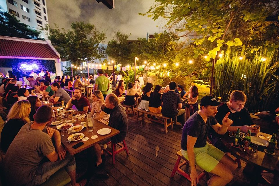 dining in nature in Singapore