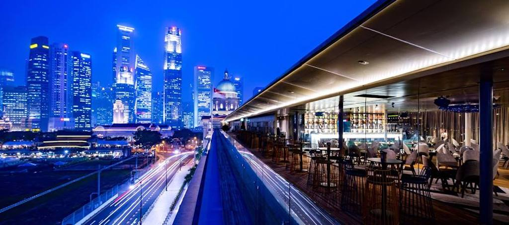 restaurants with a view in singapore, aura