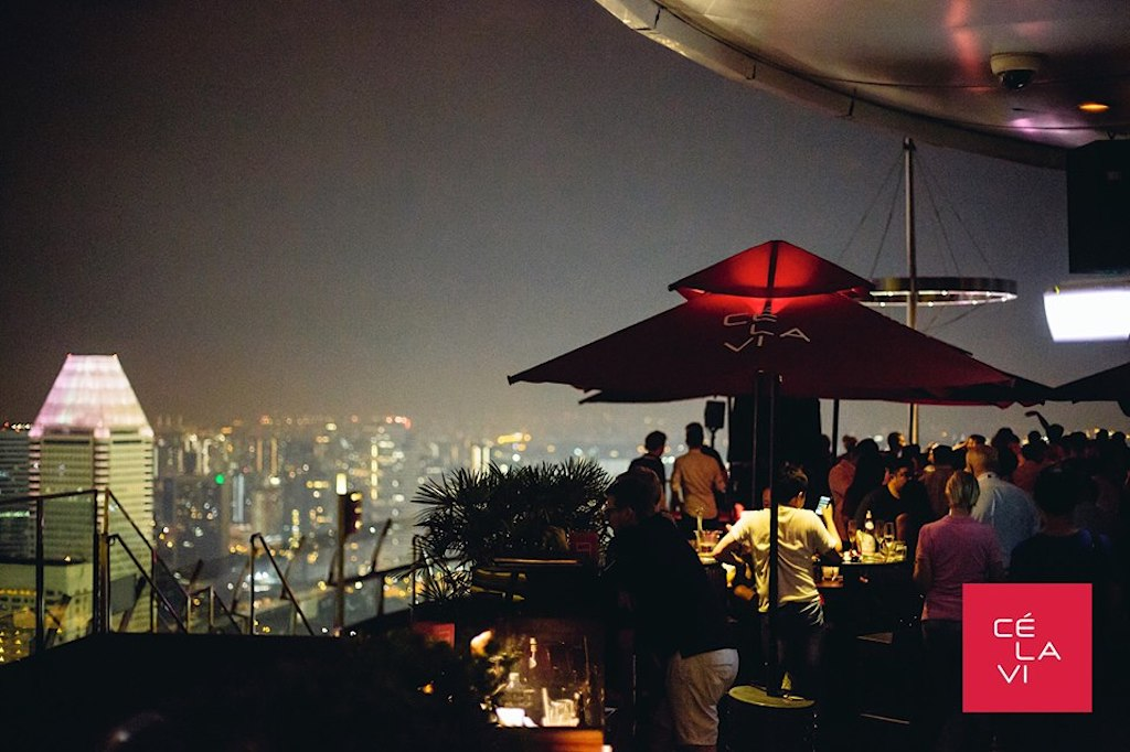 rooftop bars in singapore, ce la vi