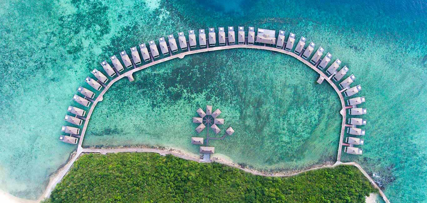 overwater bungalows in asia, huma