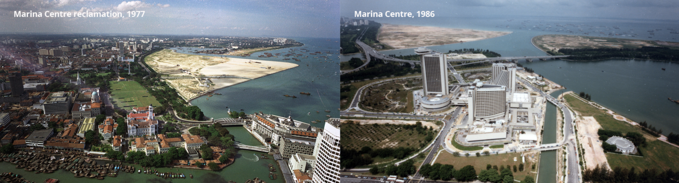 """Singapore's first land reclamation projects""Singapore's first land reclamation projects"