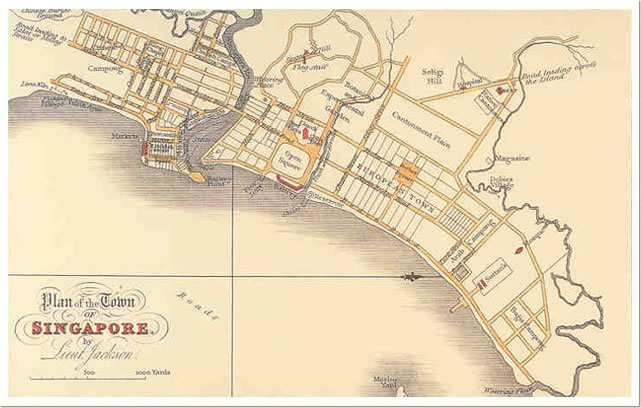 """Map of Singapore Chinatown 1822"""