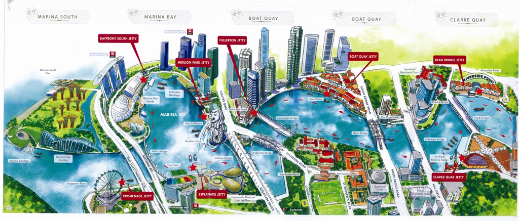 """Map Singapore River Cruise"""