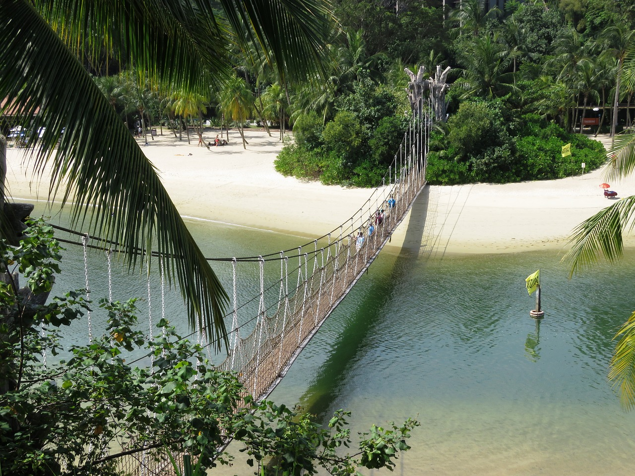 """Sentosa suspended bridge Palawan"""