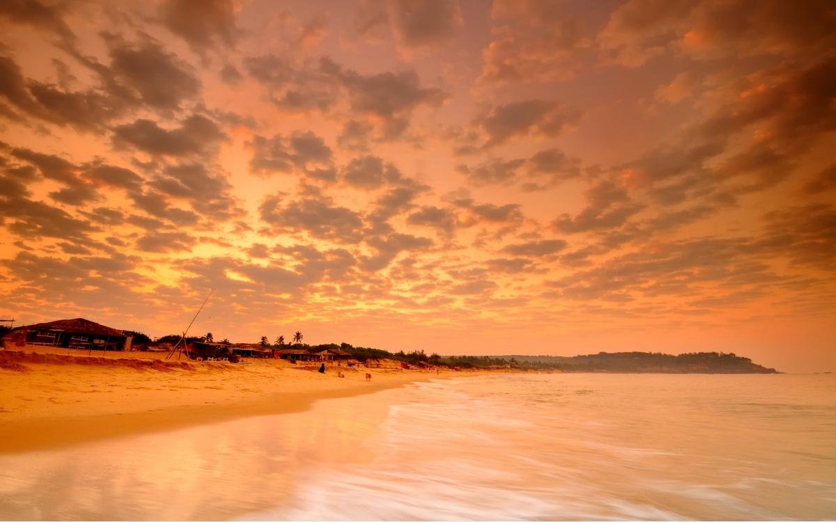 Sunset on nearby Candolim beach